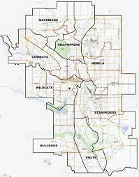 Calgary Map Team Map The Calgary Bantam Football Association