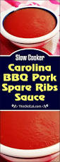 slow cooker carolina bbq pork spare ribs sauce this old gal