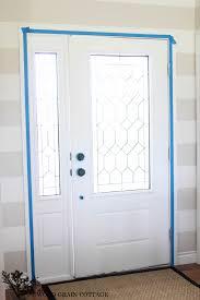 painted front door the wood grain cottage