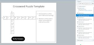 how to build a crossword puzzle for storyline