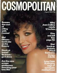 cosmopolitan article legendary dame on the cover cosmopolitan august 1984