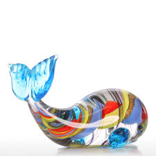 best and cheap multicolored tooarts colorful whale gift glass