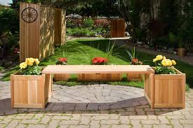 Deck Planters And Benches - wooden planter with benches by all things cedar furniture