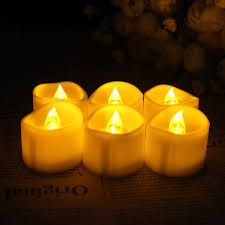 popular halloween flickering lights buy cheap halloween flickering 6pcs new yellow flicker light flameless led night light candle