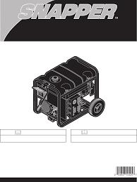 snapper portable generator 030214 user guide manualsonline com