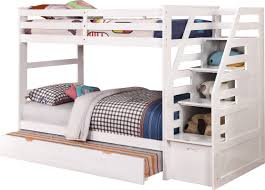 wildon home cosmo twin over twin bunk bed with trundle and