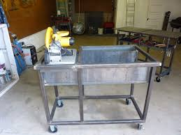 diy portable welding table jim aderhold s welding and metalworking hobby chop saw cutting