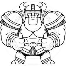 cartoon viking thumbs up black u0026 white line art by cory thoman