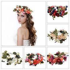 floral headdress party crown wedding headband floral headdress flower