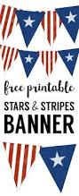 stars and stripes banner free printable paper trail design