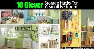 Bedroom Storage 10 Clever Tiny Bedroom Storage Hacks