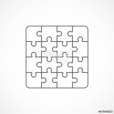 jigsaw puzzle blank template sixteen elements
