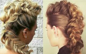 cool hair designs for long hair expressive women braided mohawk hairstyles hairdrome com