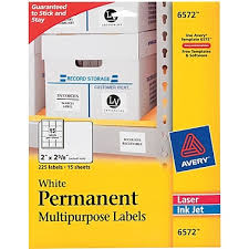 avery white weatherproof laser mailing labels staples