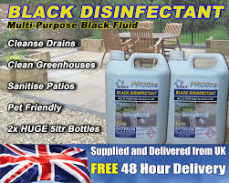 Jeyes Fluid Patio Cleaner by Black Disinfectant Black Fluid 2x 5 Litres Very Strong Ebay