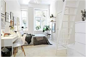 bureau echelle scandinave blanche meubles design échelle mezzanine bureau
