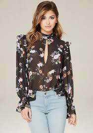 bebe blouses sale dreamy georgette top channeling the victoriana trend with