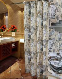 Luxury Grey Curtains Gray Ivory Floral Luxury Shower Curtains