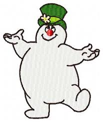 frosty snowman winter christmas machine embroidery design