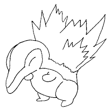 coloring pages nice pokemon coloring pages cyndaquil