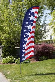 Custom Swooper Flags Patriotic Feather Banners For Real Estate