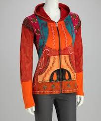 black u0026 orange om zip up hoodie
