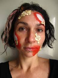 zombie face paint tutorial coochiecrunch