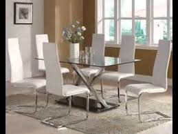 all glass dining room table modern glass dining table decor ideas youtube