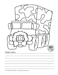 free military coloring pages christmas operation write