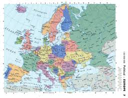 Maps Of Eastern Europe by Maps Of Europe Map Of Europe In English Political