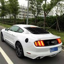 mustang rear louvers 2015 2016 ford mustang vintage style rear window louver