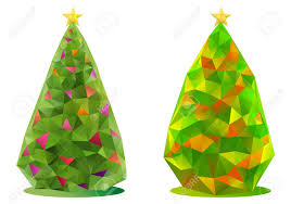 abstract trees with triangle pattern royalty free