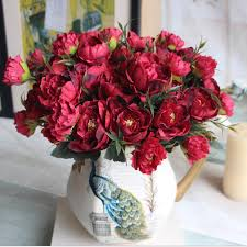 Fake Peonies Peonies Flower Arrangements Picture More Detailed Picture About