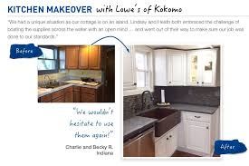 before u0026 after kitchen makeover inspiration from lowe u0027s