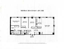 New York Condo Floor Plans by 150 West 26th Street 503 New York Ny 10001 Realdirect