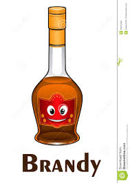 cartoon alcohol cartoon smiling brandy bottle character stock vector image 43847599