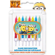 despicable me cake topper despicable me cake topper with 8 candles walmart