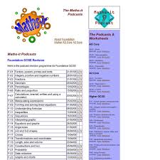 maths it podcast revision podcasts and worksheets for gcse and a