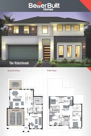 Floor Plan Two Storey by The Waterbrook Double Storey House Design 265 Sq M U2013 12 09m X