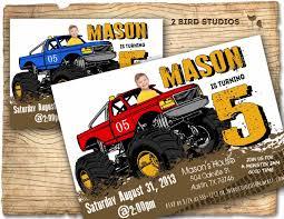 monster truck video clips monster truck invitation monster truck party invite diy