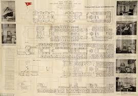 titanic floor plan rare titanic deck plan that belonged to doomed first class elderly