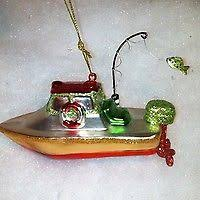 blown glass trout fish fishing tree ornament cer