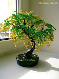 одноклассники деревья из бисера bonsai and