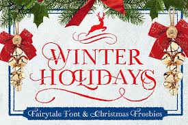 winter holidays freebies display fonts creative market