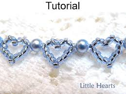 beaded heart bracelet images Jewelry making beading pattern beaded heart bracelet tutorial jpg