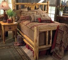 Wood Log Bed Frame Log Bed Frame Ebay