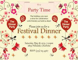 Dinner Party Agenda - 26 free printable party invitation templates in word