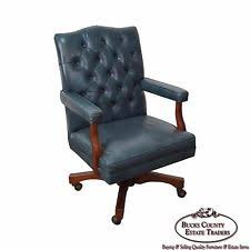 Blue Leather Chair Blue Leather Chair Ebay