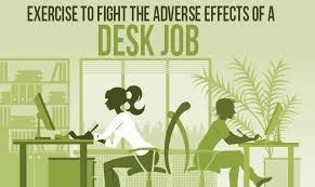 Desk Exercises At Work Exercise To Fight The Adverse Effects Of A Desk Job Infographic
