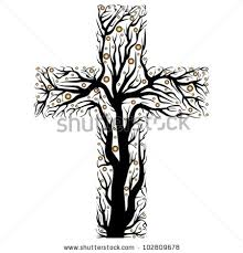 royalty free stock photos and images black christian cross tree